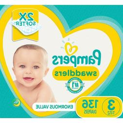 Pampers Swaddlers Diapers Size 3 136 Count for Your Baby 16