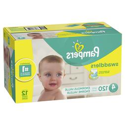 Pampers Swaddlers Diapers, Size 4, 120 Count