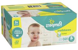 Pampers Swaddlers Diapers, Size 4, 150 Count