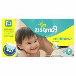 Pampers Swaddlers Diapers, Size 5, 124 Count