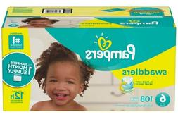 Pampers Swaddlers Diapers, Size 6, 108 Count
