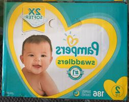 Pampers Swaddlers Disposable Baby Diapers - Size 2 186 count