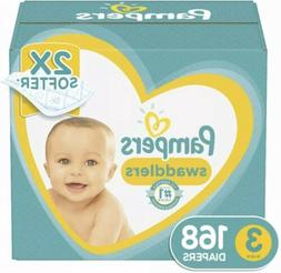 Pampers Swaddlers Disposable Baby Diapers Size 3, 168  Count