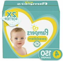Pampers Swaddlers Disposable Baby Diapers Size 4, 150 Count