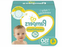 Pampers Swaddlers Disposable Baby Diapers, Size 4,150 Count