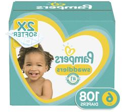 Pampers Swaddlers Disposable Baby Diapers - Size 6 108 count