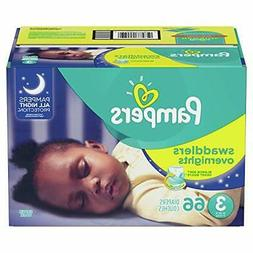 Pampers Swaddlers Overnights Disposable Baby Diapers Size 3,