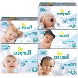 Pampers Swaddlers Sensitive Baby Diapers VALUE Size N 1 2 3