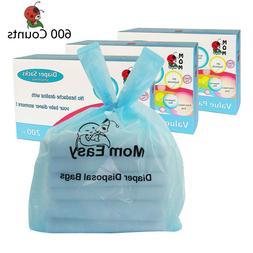 MOM EASY 600 Counts Easy-Tie Baby Disposable Diaper Sacks/Di