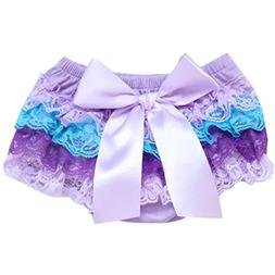 FEITONG Toddler Baby Infant Girl Bow Lace PP Shorts Ruffle B