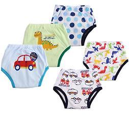 Dimore Baby Toddler 5 Pack Cotton Waterproof Training Pants