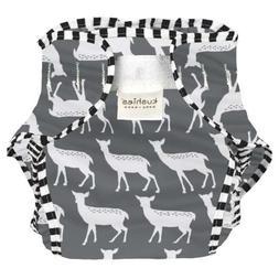 Kushies Baby Toddler Waterproof Diaper Wrap, Charcoal Deer