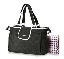 tonal dot tote diaper bag
