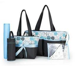 travel quality diaper bag tote 5 piece
