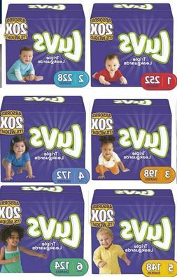 Luvs Ultra Leakgaurds Baby Diaper Size 1, 2, 3, 4, 5, 6- ONE