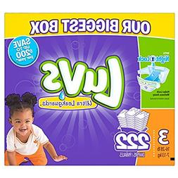 New 186ct Luvs Ultra Leakguard Disposable Baby Diapers Sz 3