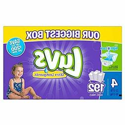 Luvs Ultra Leakguards Baby Diapers Size 4, 192 Count