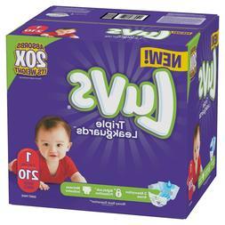 LUVS Ultra Triple Leakguards Baby Diapers Size Newborn 1, 2,