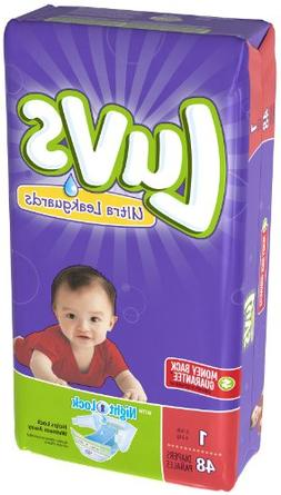 Luvs Ultra Leakguards Newborn Diapers Size 1, 48 Count
