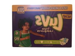 Luvs Ultra Leakguards Diapers Disposable Size 6 ,192 Count F