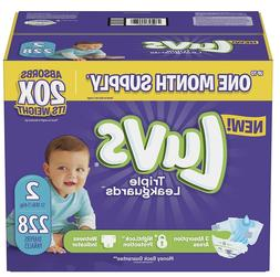 ultra leakguards diapers size 2 228 ct