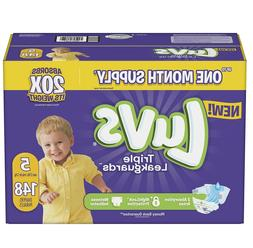 Luvs Ultra Leakguards Diapers Size5, -148 ct.