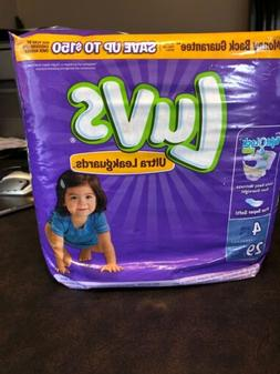 Luvs Ultra Leakguards Diapers with Night Lock, Size 4 29 ea
