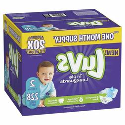 Luvs Ultra Leakguards Disposable Baby Diapers: Size 2 / 228