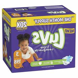 Luvs Ultra Leakguards Disposable Baby Diapers, Size 3, 198 C