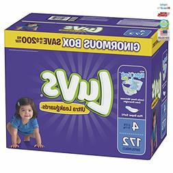 Luvs Ultra Leakguards Disposable Baby Diapers, Size 4, 172 C
