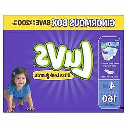 Luvs Ultra Leakguards Disposable Diapers Size 4, 160 Count,
