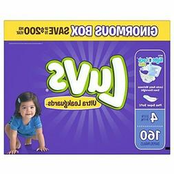 Luvs Ultra Leakguards Disposable Diapers Size 4 160 Count ON