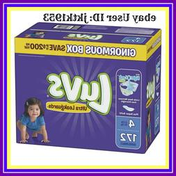 Luvs Ultra Leakguards Disposable Diapers, Size 4, 172 Count,