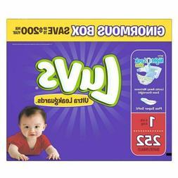 Luvs Ultra Leakguards Newborn Diapers, Size 1, 252 Count Fre