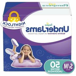 Pampers UnderJams Disposable Bedtime Underwear for Girls,Sma