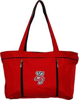 University of Wisconsin Standing Badger Diaper Bag w/Travel