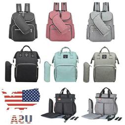 US Baby Diaper Nappy Mummy Changing Bag Backpack Set Multi-F
