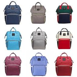 US Mummy Bag Backpack Baby Diaper Nappy Backpack Multifuncti