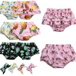 USA Baby Girl Newborns Cotton Ruffle PP Pants Shorts Bloomer