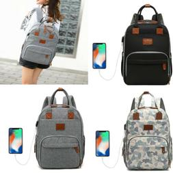 USB Diaper Bag Mummy Stroller Backpack Baby Charging Nursing