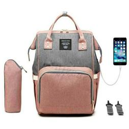 USB Interface Maternity Diaper Bag Mom Backpack Large Capaci