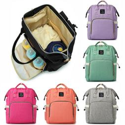 USB Interface Maternity Diaper Bag Mom Backpack Large Baby N