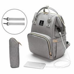 USB Interface Maternity Diaper Bag Mom Backpack Large Capaci