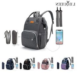 LEQUEEN USB USB Nappy Backpack Baby Diaper With Stroller Hoo