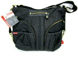 Skip Hop Versa Expandable Diaper Bag, Black