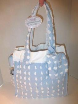 Vintage Inspired Sweet & Soft Lt. Blue & White 3pc. Diaper B