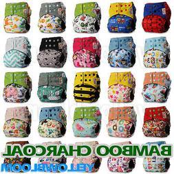 Washable Baby Pocket Nappy Cloth Reusable Diaper BAMBOO CHAR