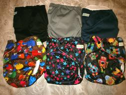 Wegreeco Washable Reusable Baby Cloth Pocket Diapers 6 Pack,