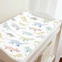 Carousel Designs Watercolor Dinosaurs Changing Pad Cover - O