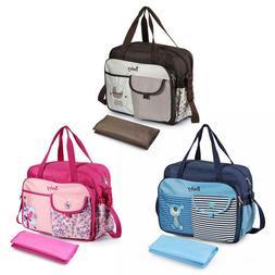 Waterproof Baby Nappy Changing Bag Diaper Handbag Shoulder M